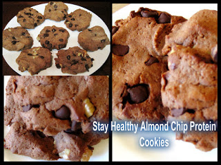 Almond Chocolate Chip Protein Cookies