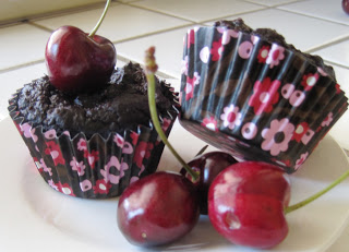 Stay Healthy Chocolate Cherry Protein Muffins