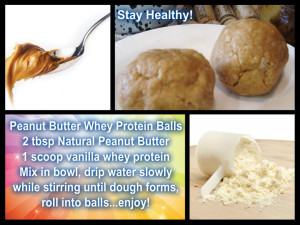 Stay Healthy Peanut Butter Whey Protein Balls