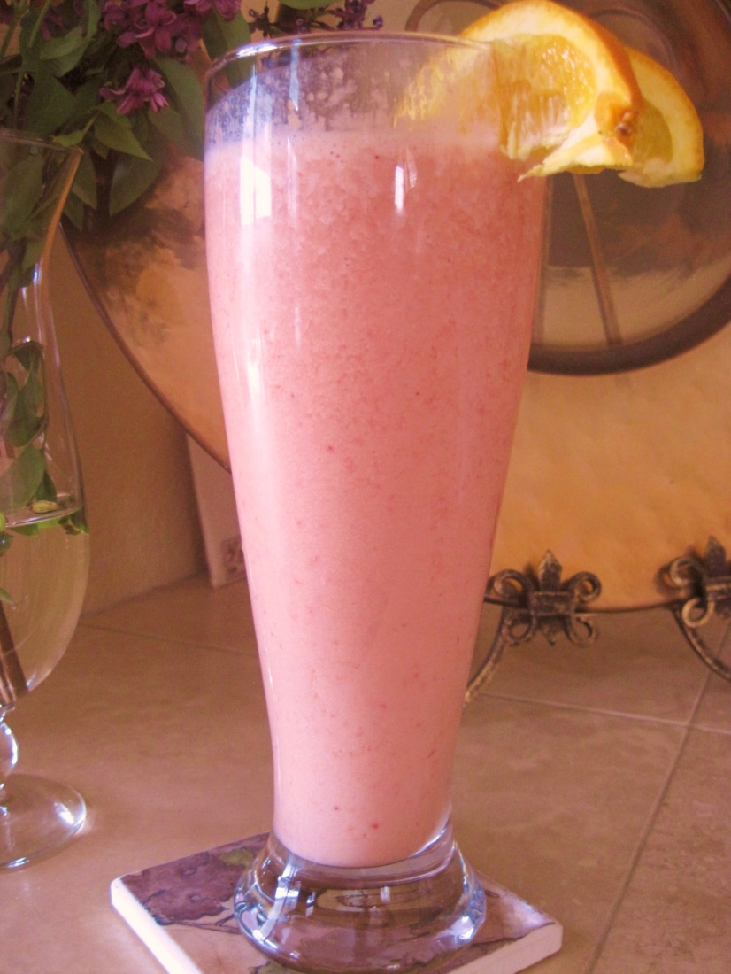 Stay Healthy Strawberry Orange Protein Shake
