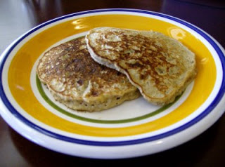 Banana Oat Protein Pancakes