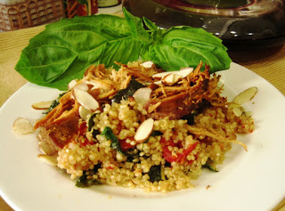 Quinoa Chicken with Fresh Basil
