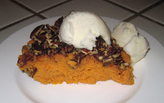 Stay Healthy Crustless Sweet Potato Pie