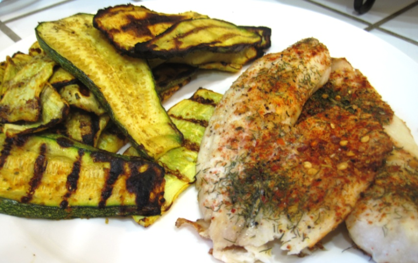 Grilled white fish and squash stay healthy fitness for Grilled white fish recipes