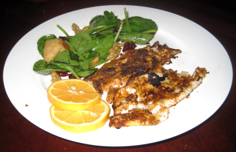 Stay Healthy Blackened Sole Fish