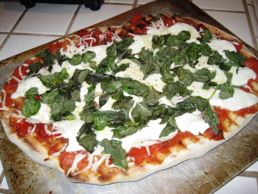 Stay Healthy Grilled Margherita Pizza