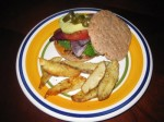 Turkey Burgers and Baked Steak Fries